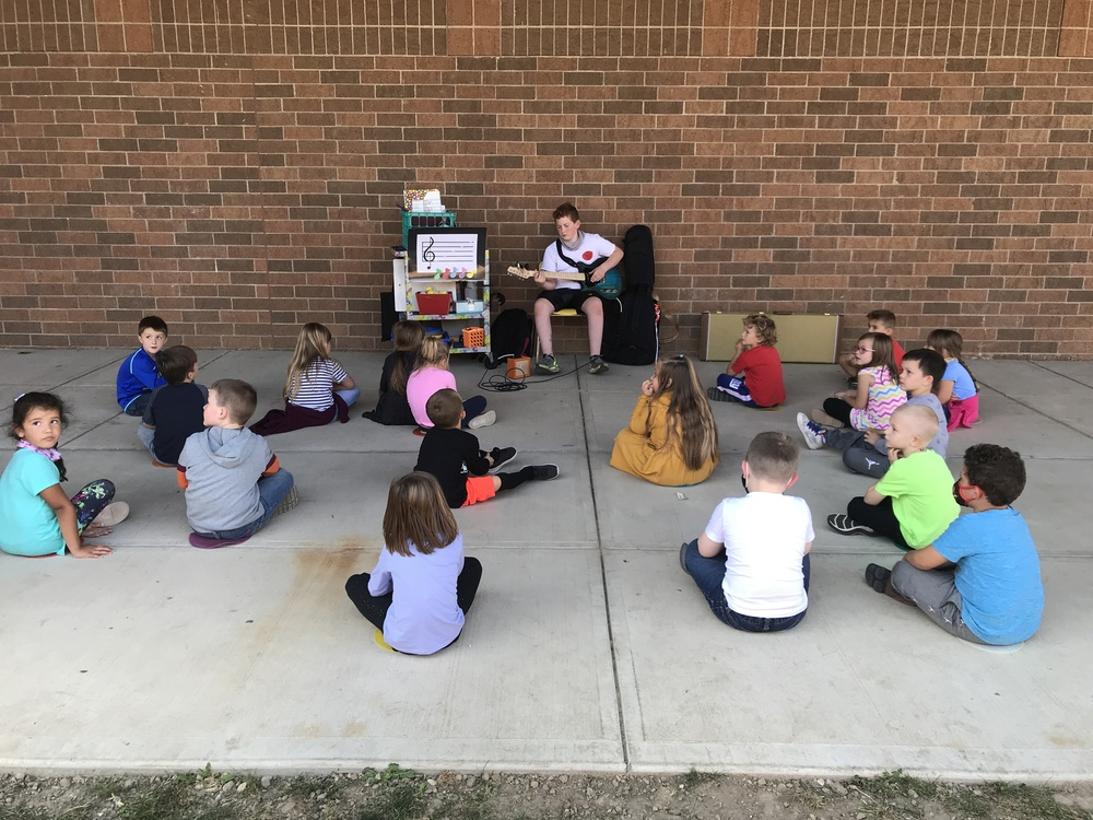 WLS Sixth Grader Visits Music Class to Share Talents