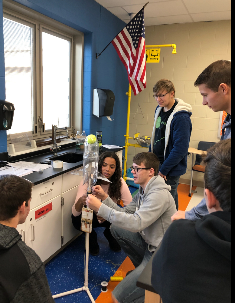 WL-S Phyics Students through Edison State Physics Complete Rocket Launch Experiment