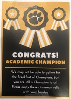 West Liberty-Salem Elementary Celebrates Highest Honors Honor Roll with Socially Distant Breakfast of Champions