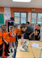 Zoology Students Share Shark Experience with Elementary