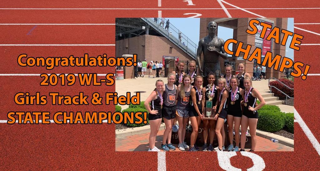 2019 WL-S Girls Track & Field State Champions