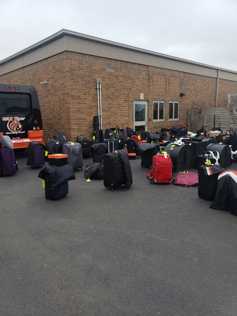 Luggage and instruments ready to load!